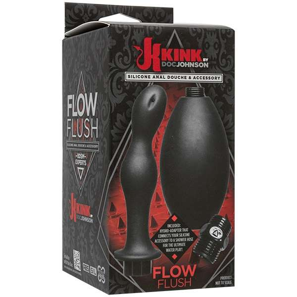 2401-21 BX DJ / Kink - Flow Full Flush - Silicone Anal Douche & Accessory Анальный душ