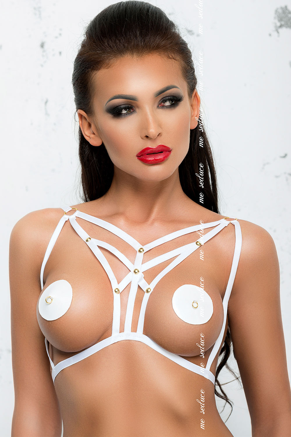 Белая портупея Me Seduce Harness 1, XXL/3XL