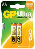 "Батарейка алкалиновая GP Batteries ""Ultra Alkaline"", тип АА, 2 шт"