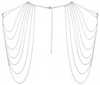 Бикини-цепочка Bijoux Magnifique Chain Shoulders Back Jewelry Silver, серебристое